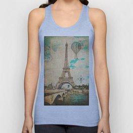 Vintage Eiffel Tower Paris Unisex Tank Top
