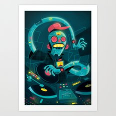 DJ Machine 2000 Art Print