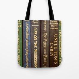 Old Books - Square Twain Tote Bag