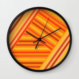 Orange - yellow stripes Wall Clock