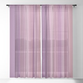 All Stitched Sheer Curtain