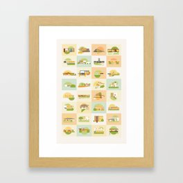 Modern Homes (Sunset) Framed Art Print