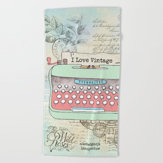 Typewriter #2 Beach Towel