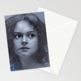 Behind greyness - pencil drawing on paperboard Stationery Cards