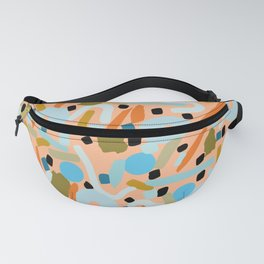 CIRCLES IN MOTION - earthy tones Fanny Pack