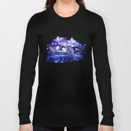 old ship boat wreck ws db Long Sleeve T-shirt
