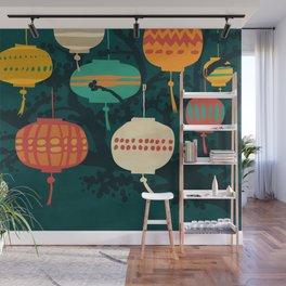 Lanterns Wall Mural