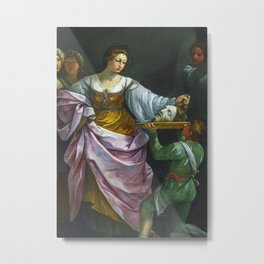Salome With The Head Metal Print