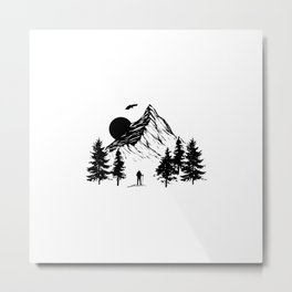 Mountains | Hiking Camping Climbing Gift Ideas Metal Print