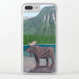 Moose at Akamina Lake Clear iPhone Case