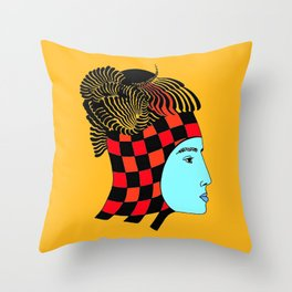 The Checkered Lady Throw Pillow