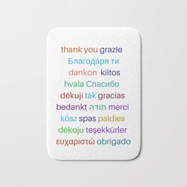 Thank you in different languages Bath Mat