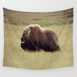 Muskox on the move \ wildlife Wall Tapestry