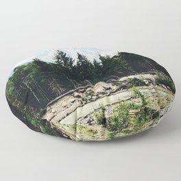Northwest Mountain River Floor Pillow