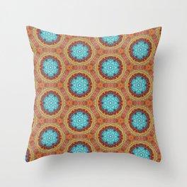 blue stitches Throw Pillow