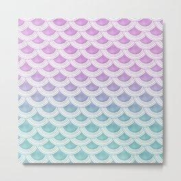 Pastel Mermaid Scales #1 #pastel #decor #art #society6 Metal Print