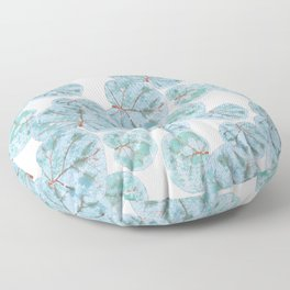 Sea Grape Tropical Leaves Floor Pillow
