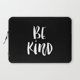Be Kind black and white watercolor modern typography minimalism home room wall decor Laptop Sleeve