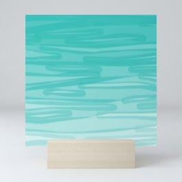 Bahama Blue Line Art, Variable Opacity Color Study - 2 Mini Art Print