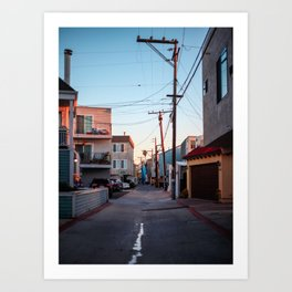 Pacific Beach III - Alley Art Print
