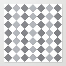 Gray and white square pattern Canvas Print