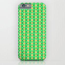 Emerald Gemstone with Gold Diamond Accents Pattern iPhone Case