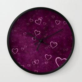 vintage fantasy heart bubbles Wall Clock