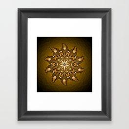 Pure gold mandala Framed Art Print