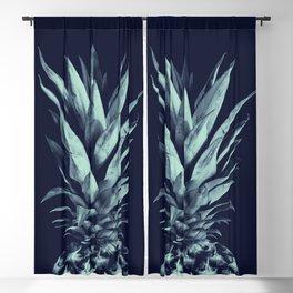 Navy Blue Pineapple Dream #1 #tropical #fruit #decor #art #society6 Blackout Curtain