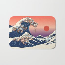 The Great Wave of Dachshunds Bath Mat