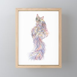 Longhair Cat - Mowgli Framed Mini Art Print