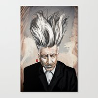 david lynch Canvas Prints featuring David Lynch by Khasis Lieb