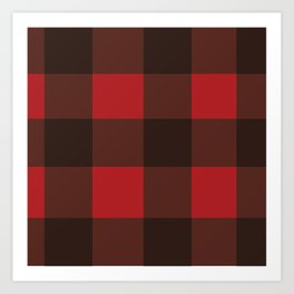Red & Black Plaid Art Print