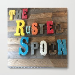 The Rusted Spoon Metal Print