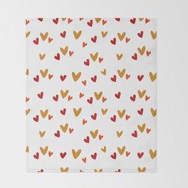 Hearts Pattern Throw Blanket
