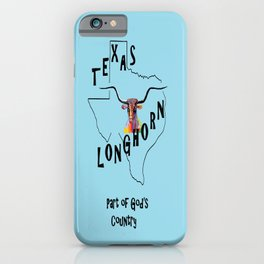 Texas Longhorn God's Country iPhone Case