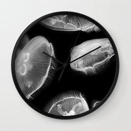 Jellyfish Photography | Wildlife Art | Nature | Black and White Photography Wall Clock