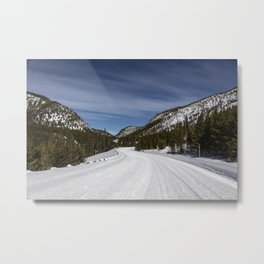 Carol Highsmith - Snow Covered Road Metal Print