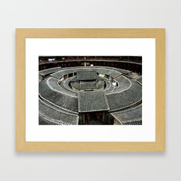 Tulou - Earthen buildings in Fujian China Framed Art Print