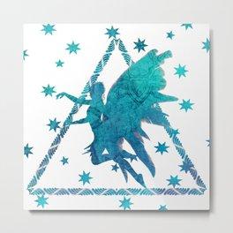 Turquoise  Fairy Metal Print