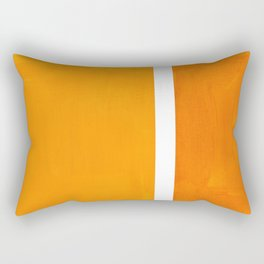 Antique Yellow  & Yellow Ochre Mid Century Modern Abstract Minimalist Rothko Color Field Squares Rectangular Pillow