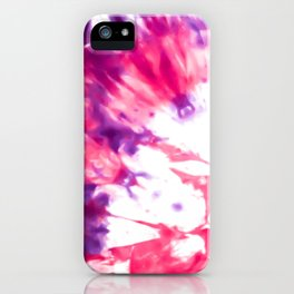 Modern Artsy Abstract Neon Pink Purple Tie Dye iPhone Case