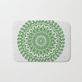 Mandala Green on Japanese Rice Paper Bath Mat