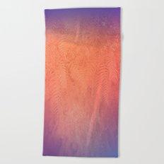 Red Foliage Beach Towel