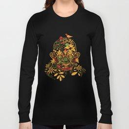 Gandhi Psychedelic Khokhloma Long Sleeve T-shirt