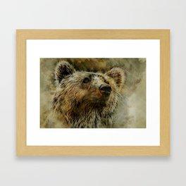 Kodiak Bear Framed Art Print