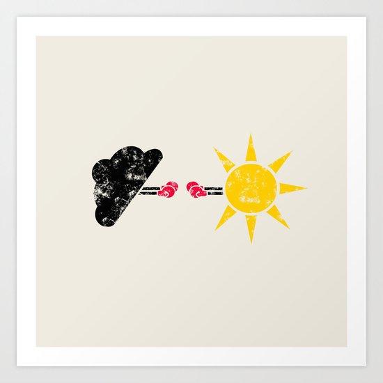 Weather War Art Print