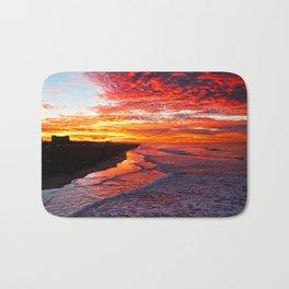 Sunrise Huntington Beach Pier   12/17/13 Bath Mat