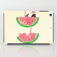 watermelon iPad Cases featuring watermelon falls by Jonah Makes Artstuff