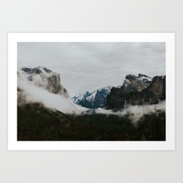 Tunnel View Morning Art Print